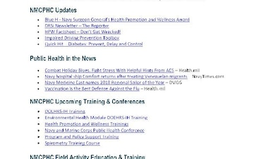Navy and Marine Corps Public Health Center (NMCPHC) Publications - 12.27.2018
