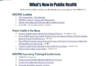 Navy and Marine Corps Public Health Center (NMCPHC) Publications - 06.25.2019