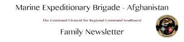 Marine Expeditionary Brigade - Afghanistan Family Newsletter