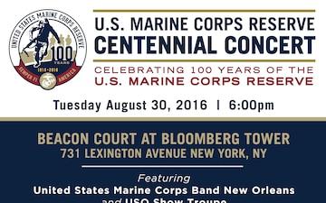 Marine Corps Reserve Centennial Concert Ad