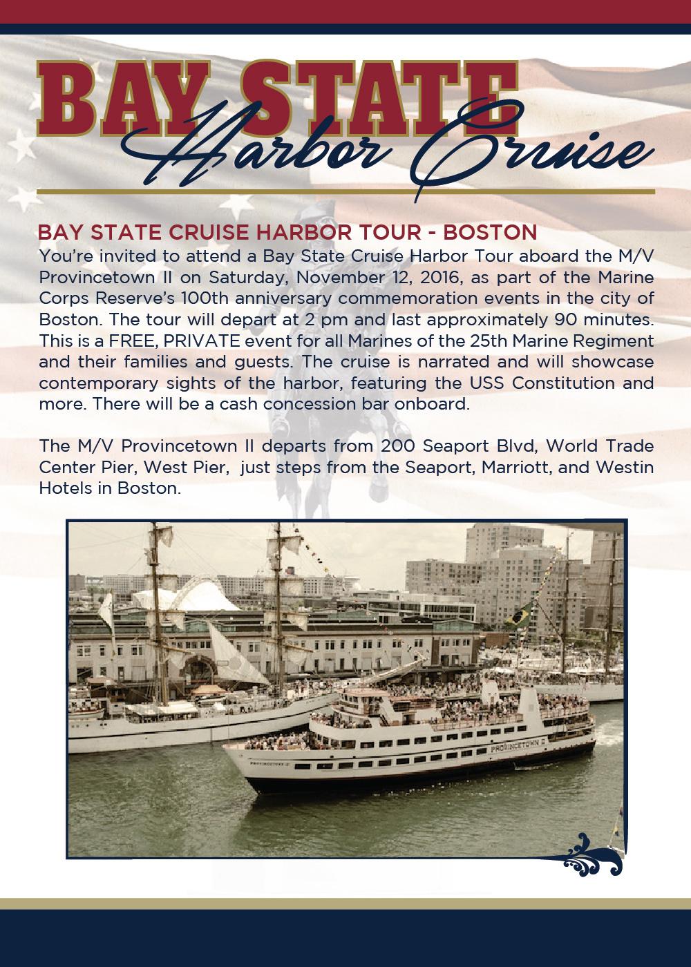 Marine Corps Reserve Centennial - Boston Harbor Cruise Hand Bill