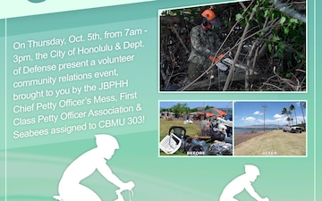 Aiea Bike Path Volunteer Cleanup event