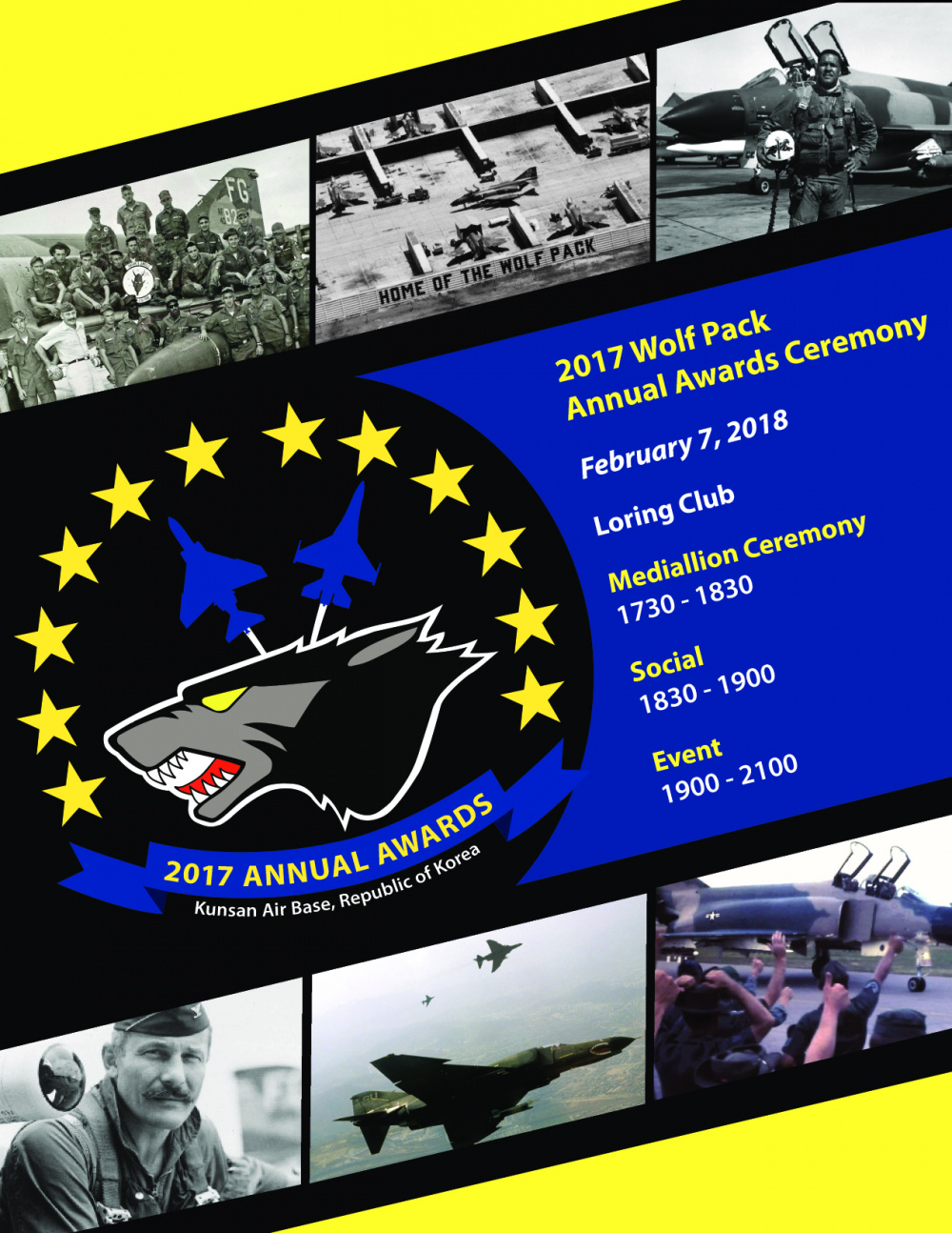 8th Fighter Wing Wolf Pack Annual Awards Poster