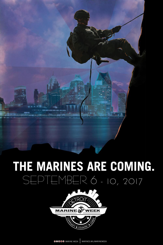 Marine Week Detroit poster
