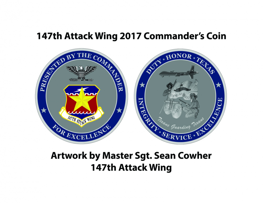 147th Attack Wing Commander's Coin