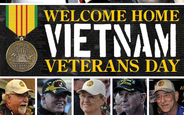 Welcome Home Vietnam Veterans Day Social Media Graphic