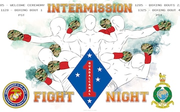 1st Marine Division Boxing Match Intermission Slate