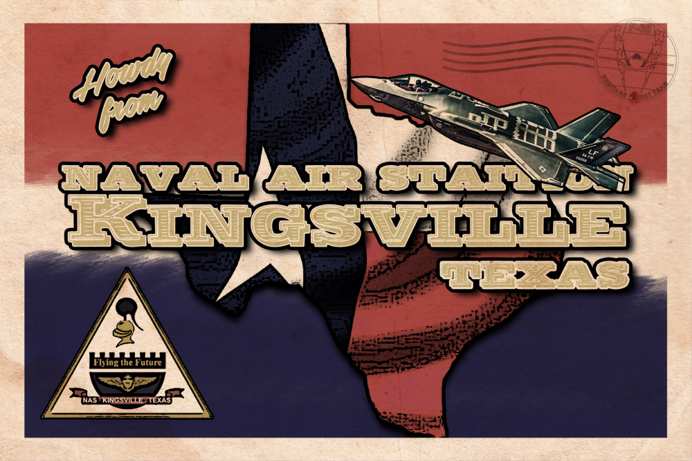F-35 Heritage Flight Team Kingsville, TX Postcard