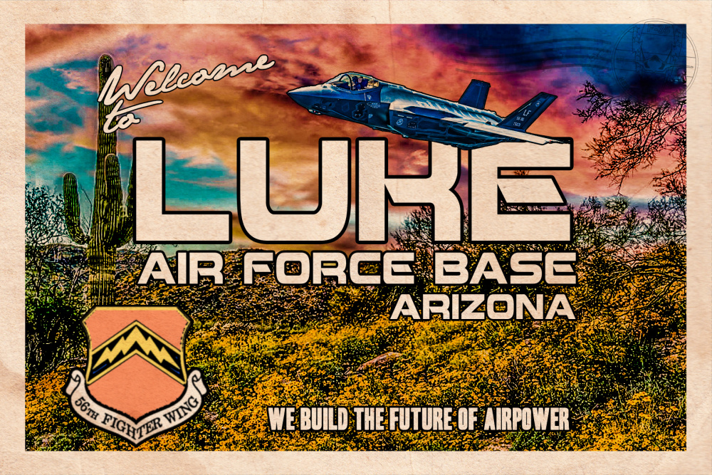 F-35 Heritage Flight Team Luke Air Force Base Postcard