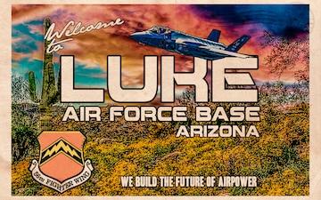 F-35 Heritage Flight Team Luke Air Force Base Postcard