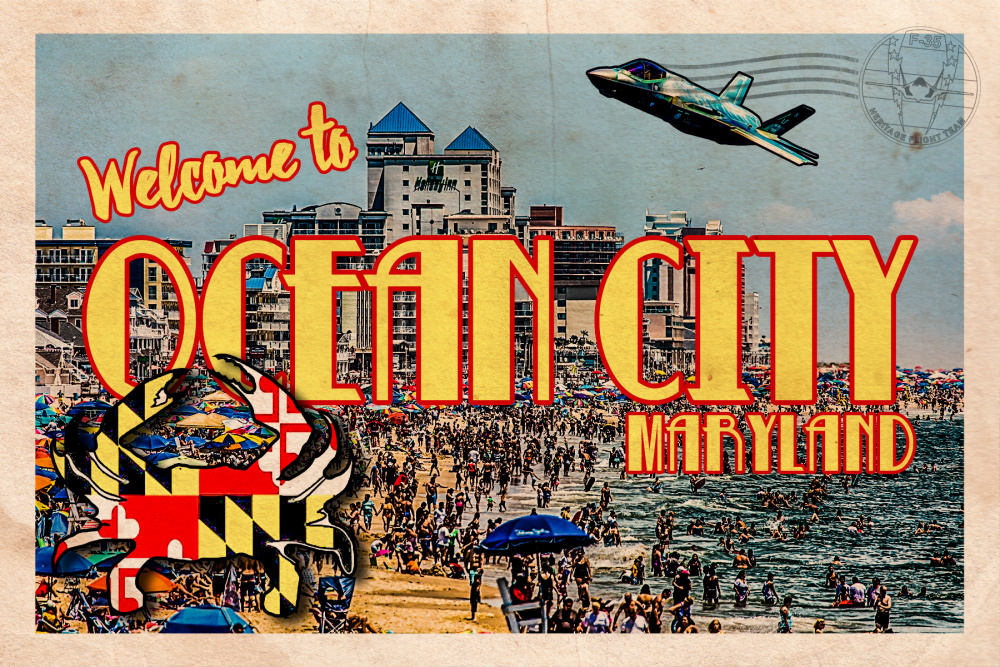 F-35 Heritage Flight Team Ocean City Postcard