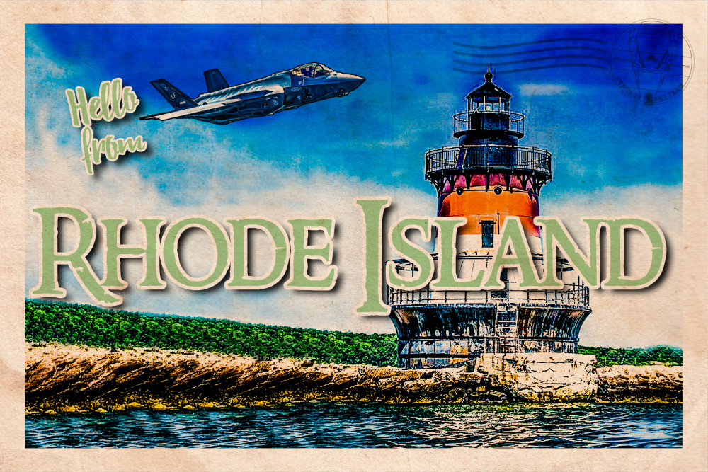 F-35 Heritage Flight Team Rhode Island Postcard