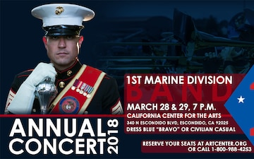 1st Marine Division Band Annual Concert 2018