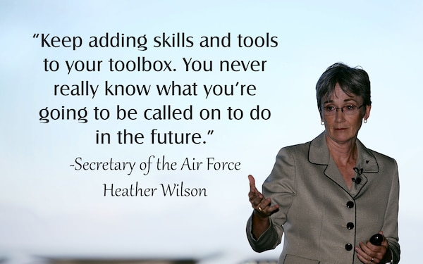Secretary of the Air Force Heather Wilson visits RAF Mildenhall