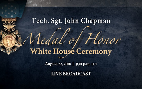 Medal of Honor – White House Ceremony, Social Media, Live Stream Graphic