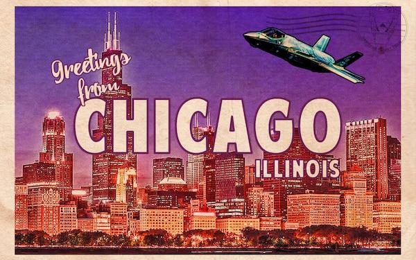 F-35 Heritage Flight Team Chicago Postcard