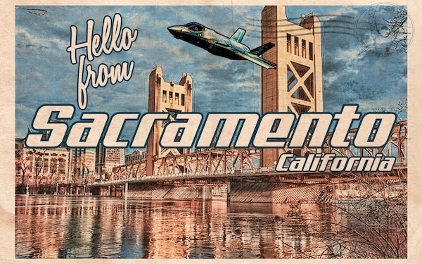 F-35 Heritage Flight Team Sacramento Postcard