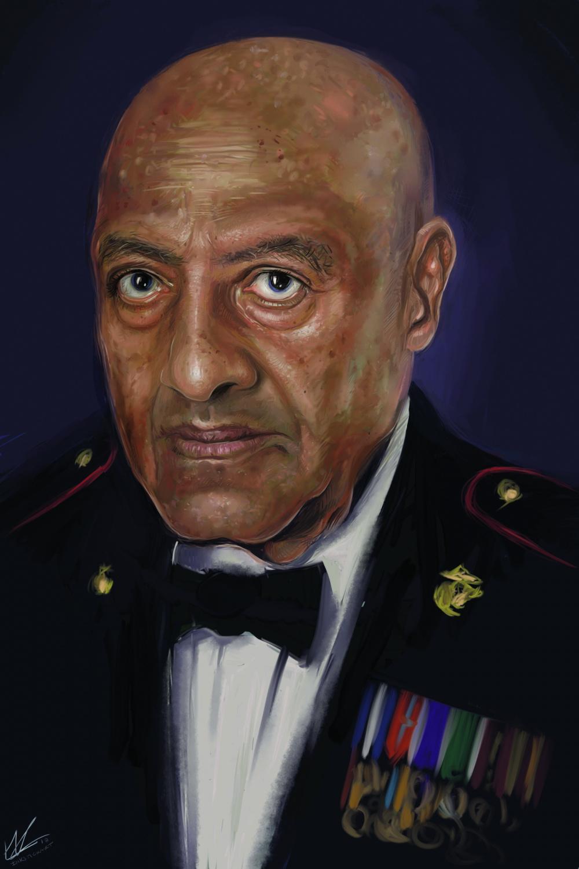 SgtMaj Canley Painting