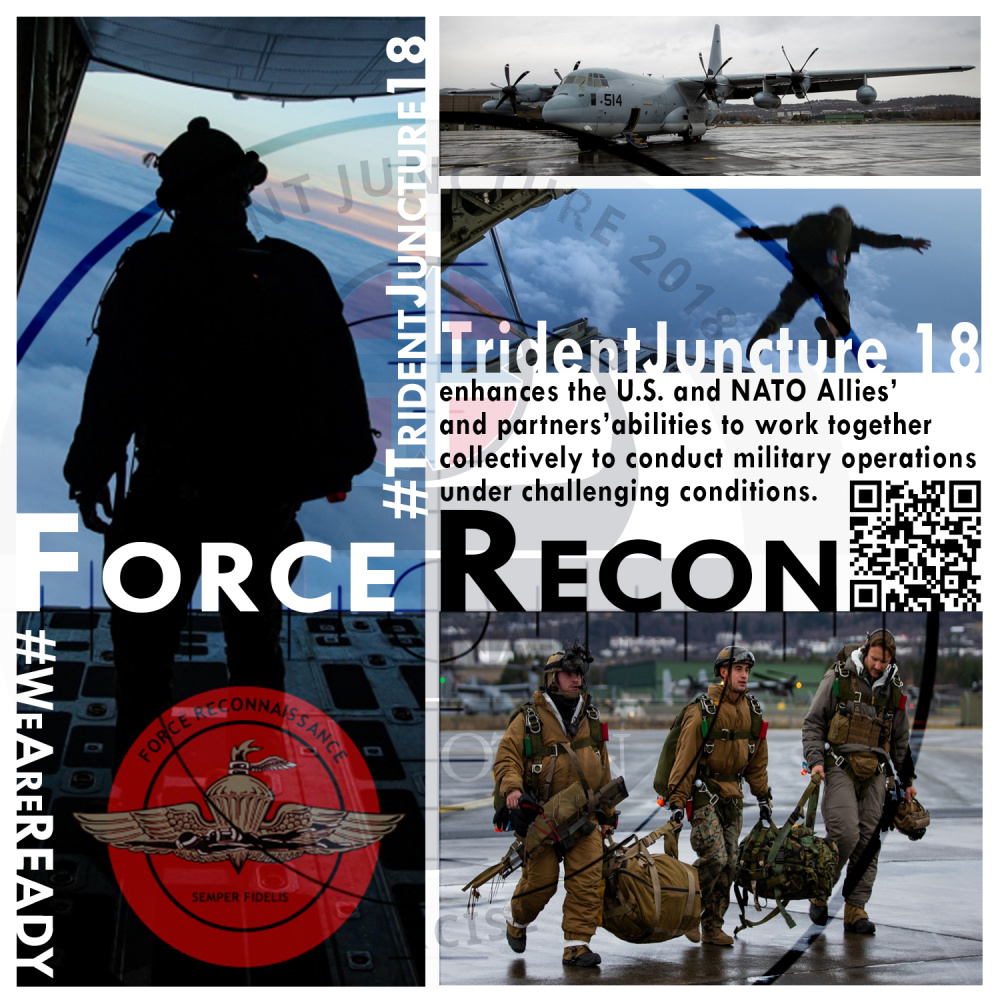 Force Recon Trident Juncture 18 Graphic