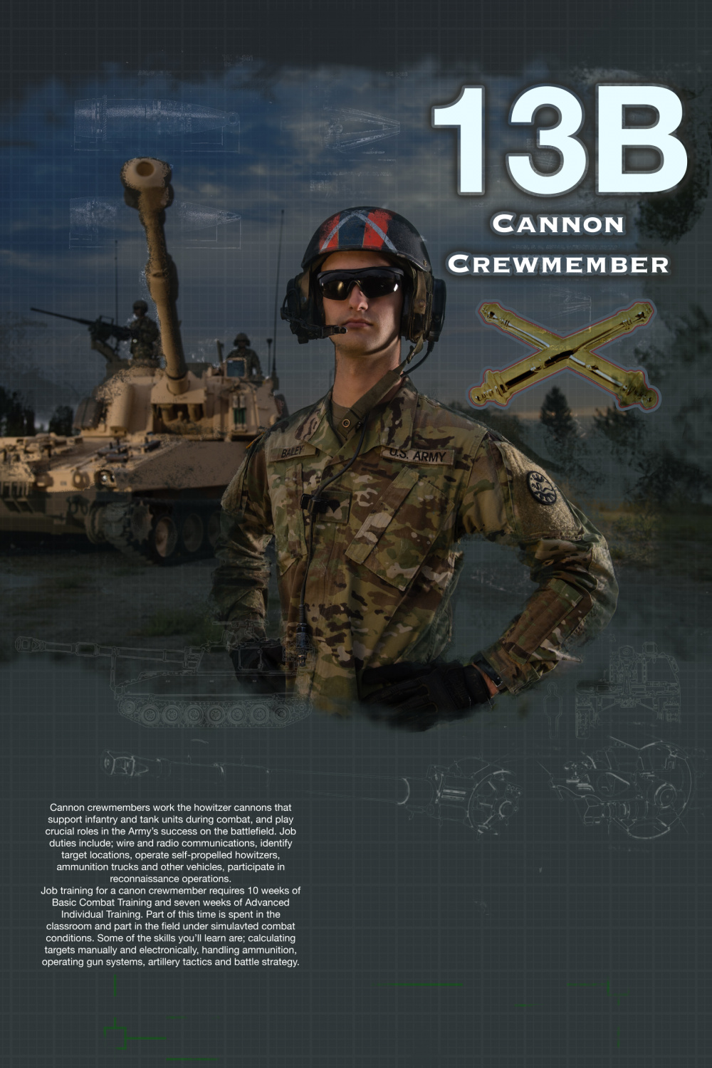 13B Cannon Crewmember-no unit patch