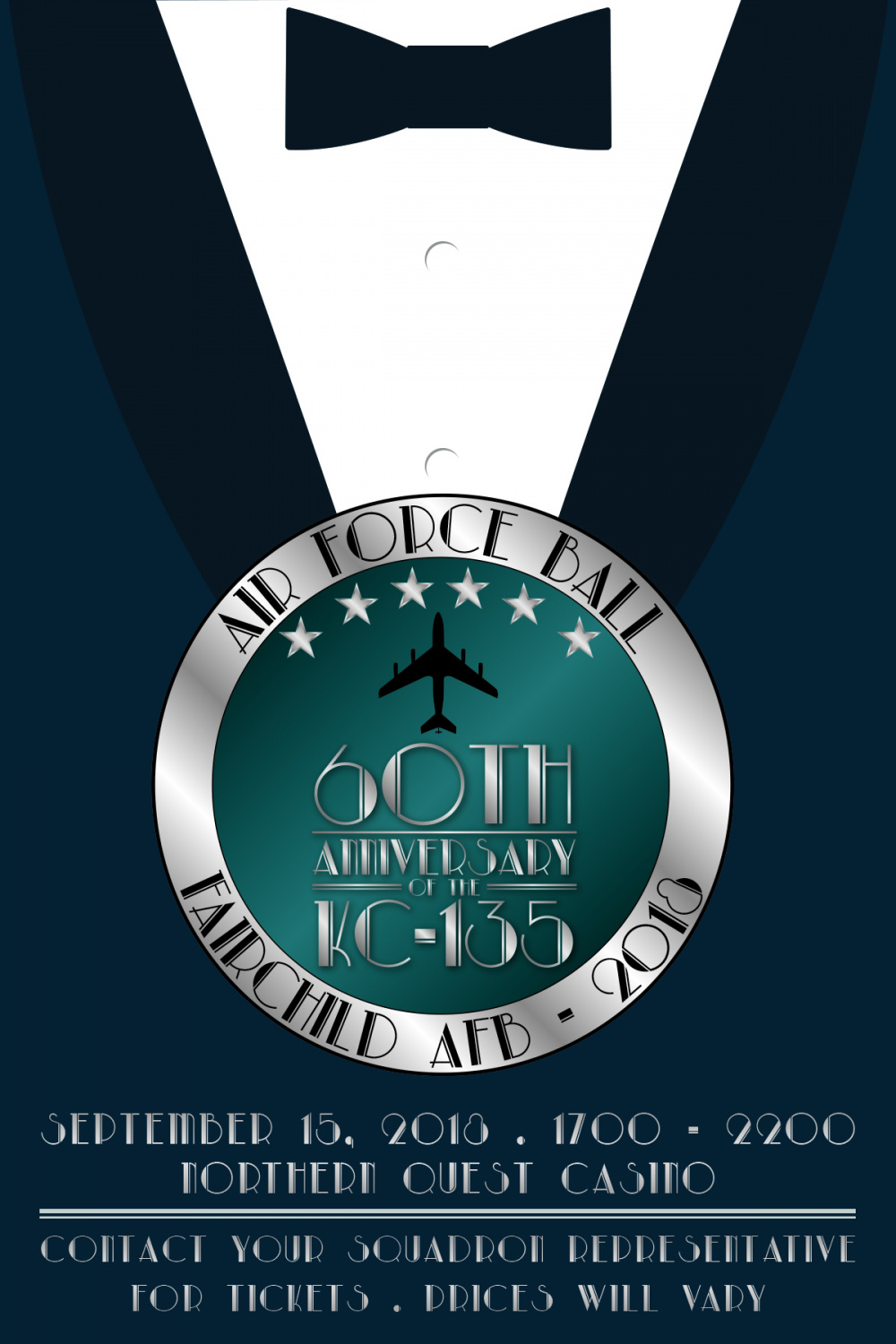2018 Fairchild Air Force Ball Bow Tie Poster