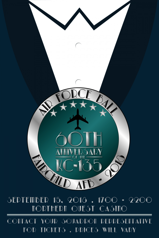 2018 Fairchild Air Force Ball Tie Tab Poster