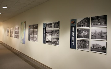 USACE Philadelphia District Hallway Display Example