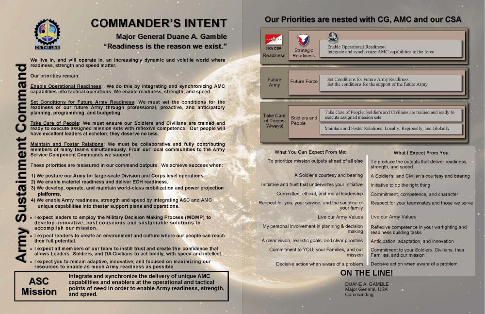 CG Commanders Intent