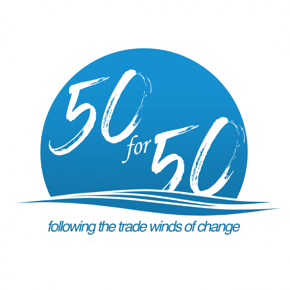 50 for 50 Graphic Logo
