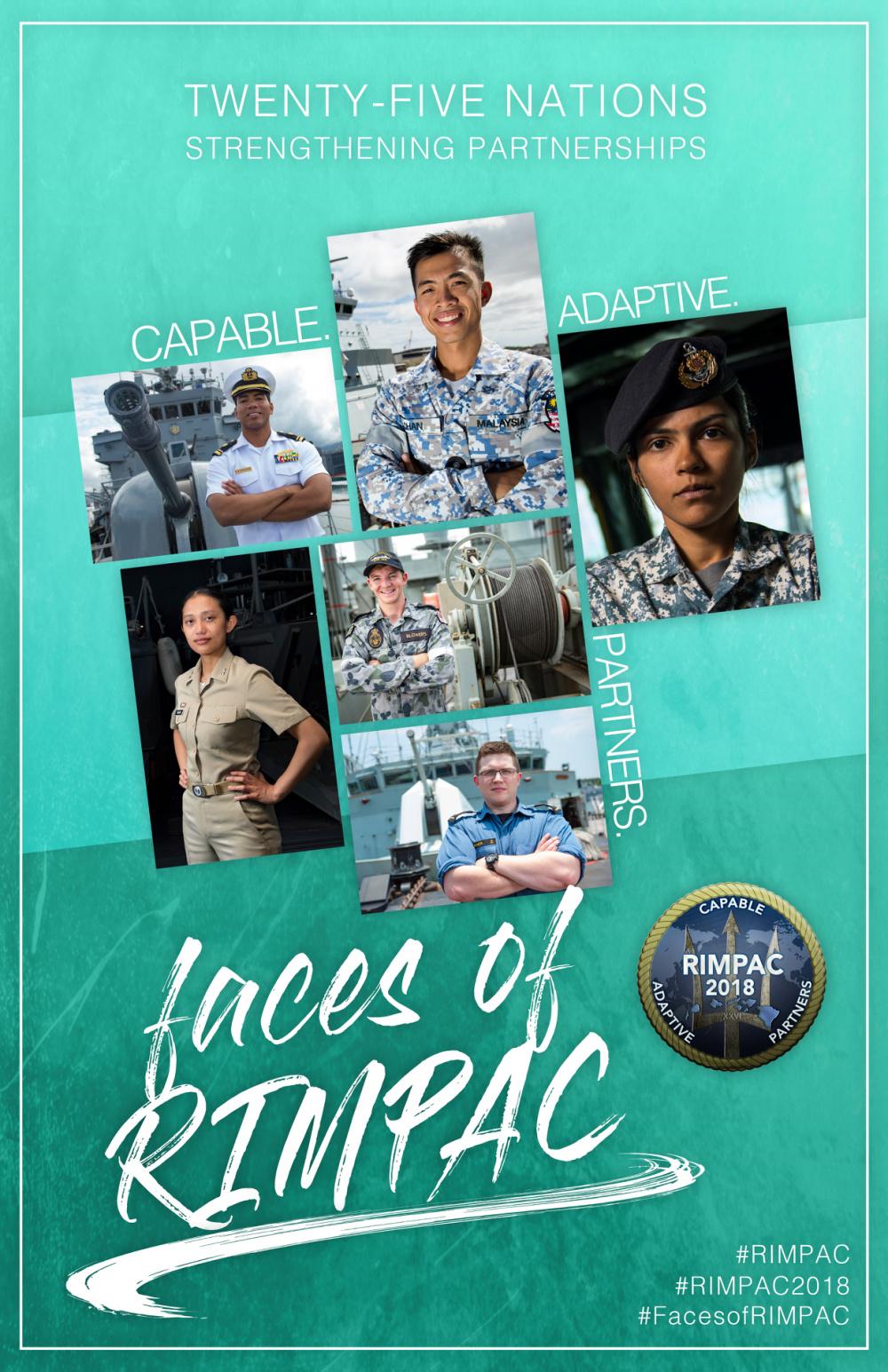 Faces of RIMPAC Poster