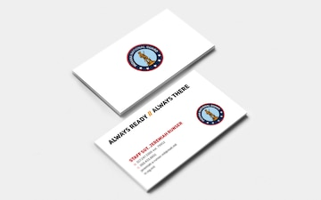 Indiana National Guard Business Card Template