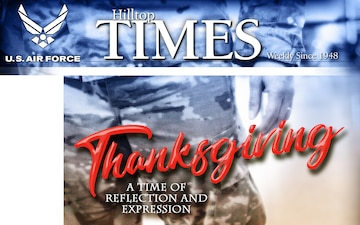 2018 Thanksgiving: Hilltop Times Cover