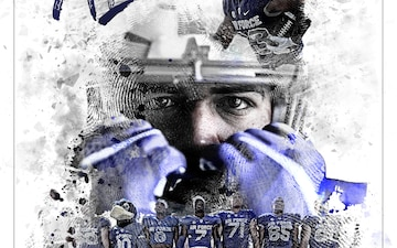 2018 U.S. Air Force Academy Football Motivational Poster - 300 DPI