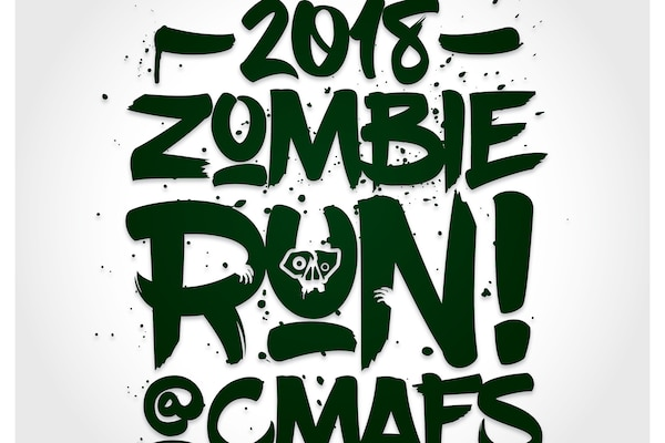 2018 Cheyenne Mountain AFS Zombie Run Logo - 300 DPI