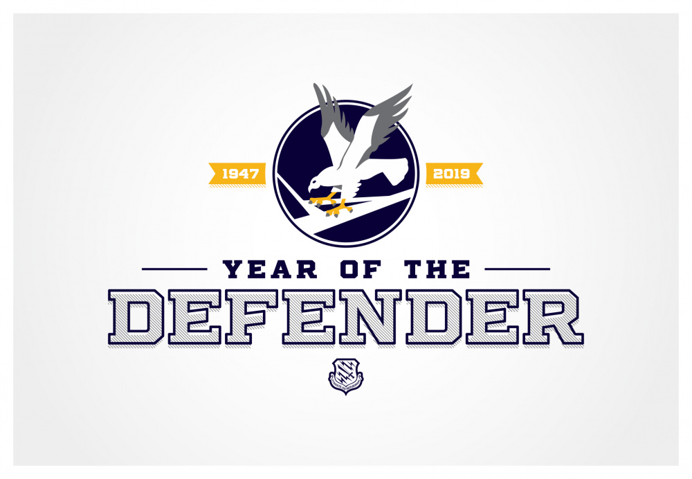 21st Space Wing Year of the Defender Graphic - 300 DPI