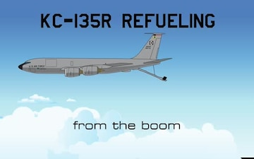 KC-135R refueling from the boom