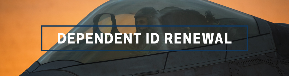 Dependent ID renewal page header for AFPIMS