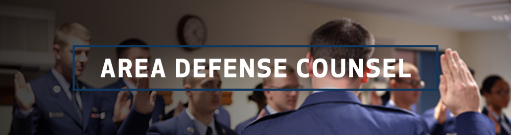 Area Defense Counsel page header for AFPIMS