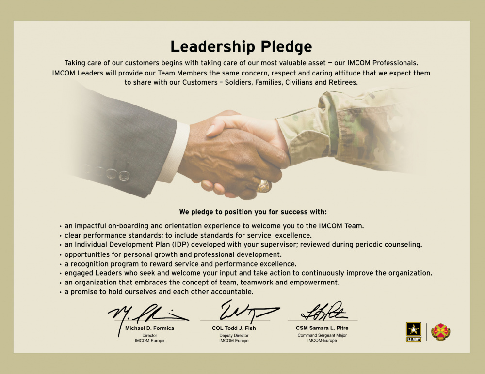 IMCOM EUROPE LEADERSHIP PLEDGE - 8.5 X 11 IN - FOR LOCAL REPRODUCTION