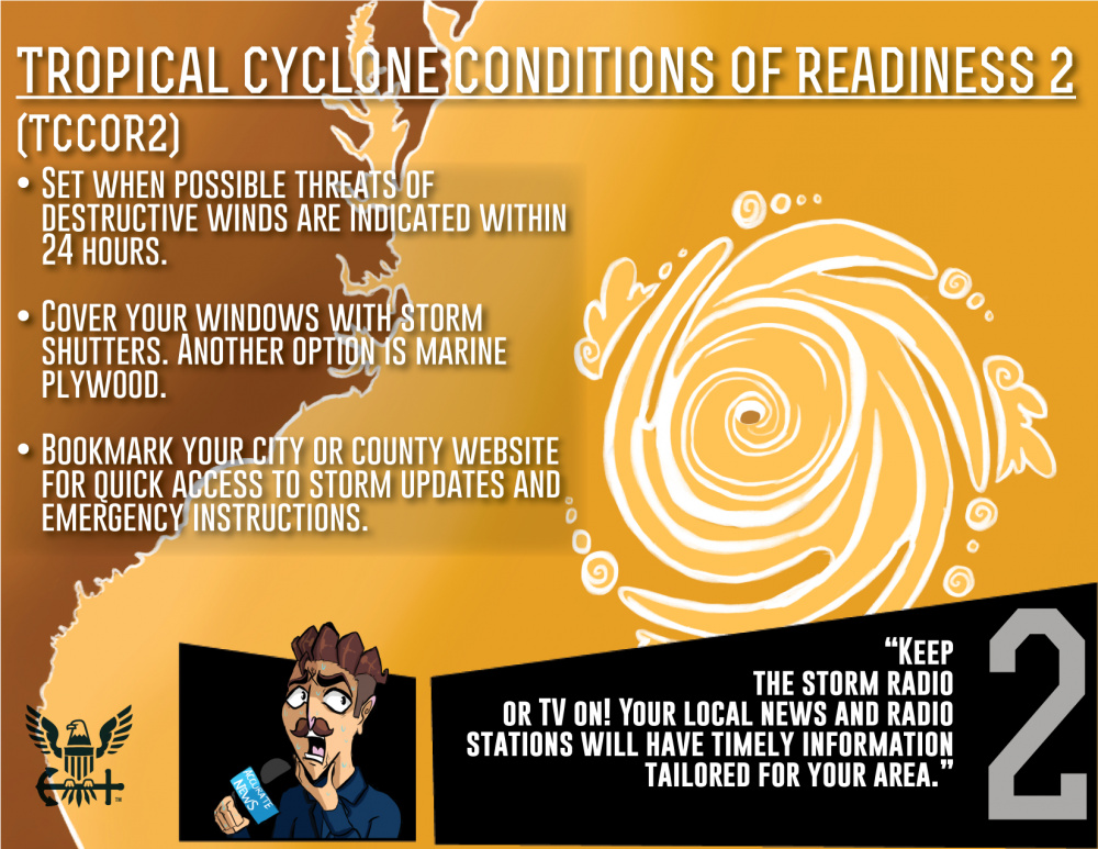 Tropical Cyclone Condition of Readiness 2 (TCCOR2)