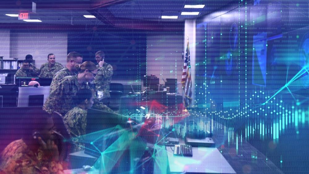 U.S. Fleet Cyber Command Watch Floor