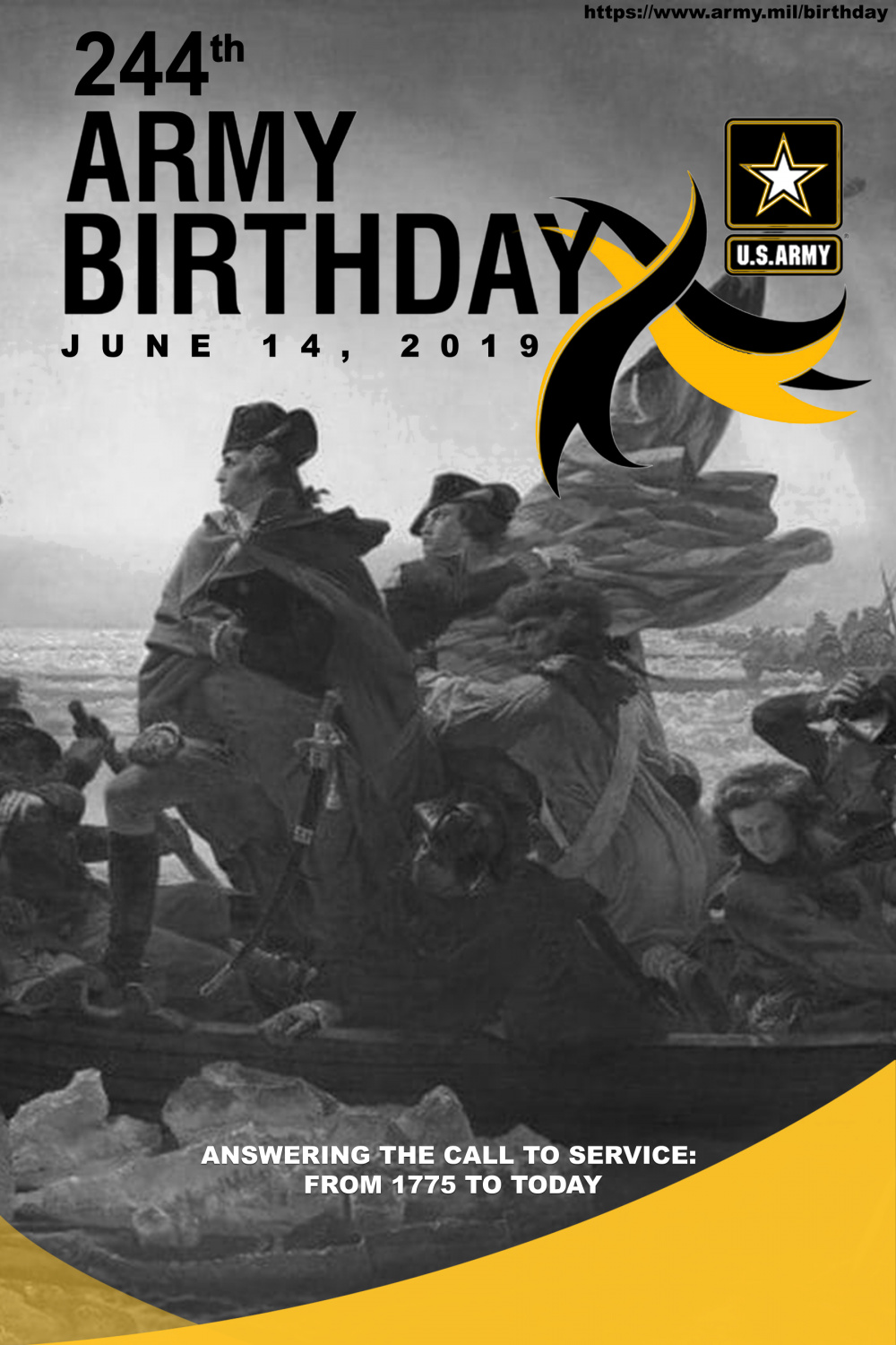 244th Army Birthday Poster design(1775)