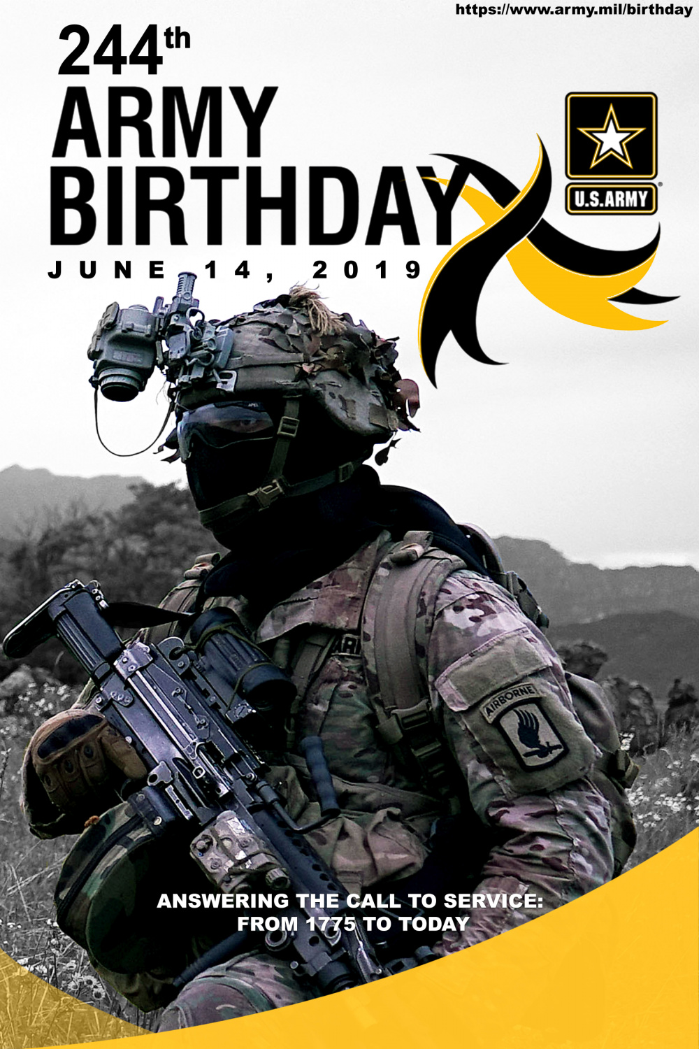 244th Army Birthday Poster design(Present Day)