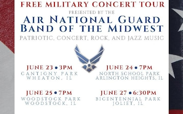 Air National Guard Band of the Midwest to perform free patriotic concerts in Chicagoland
