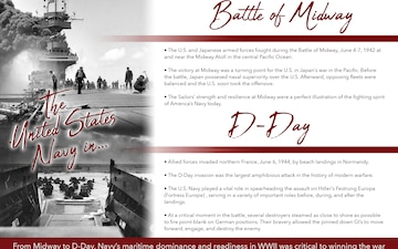 75th anniversary of the Battle of Midway and D-Day