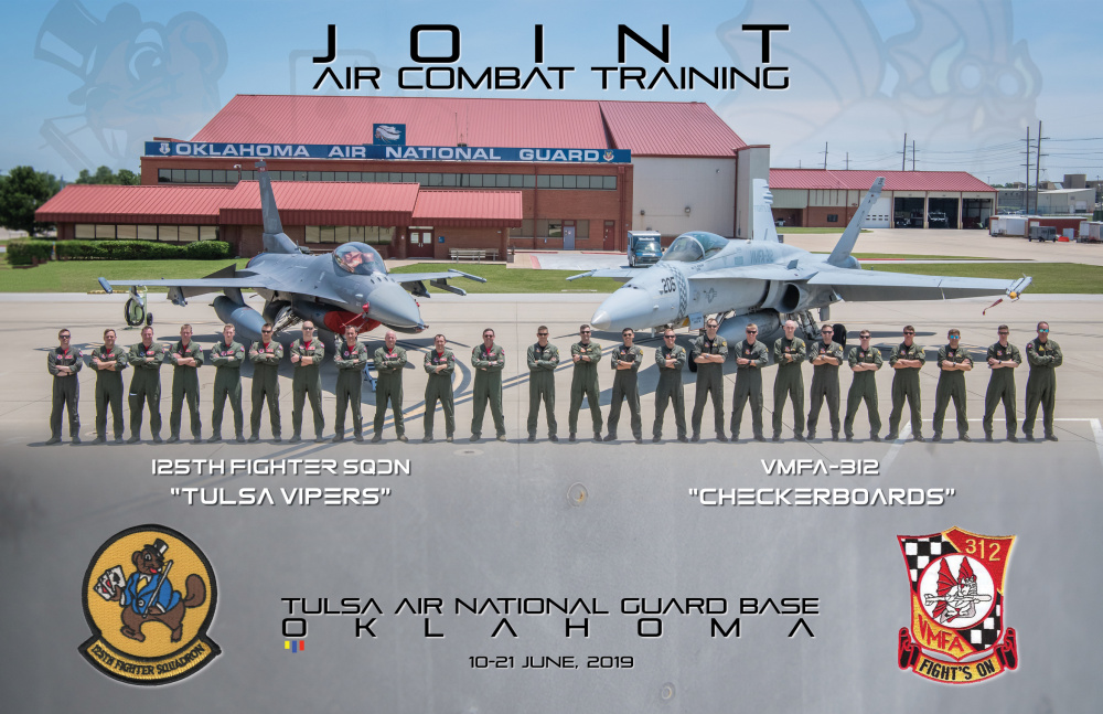 Marine Corps fighter detachment visits Tulsa Air National Guard for exercises
