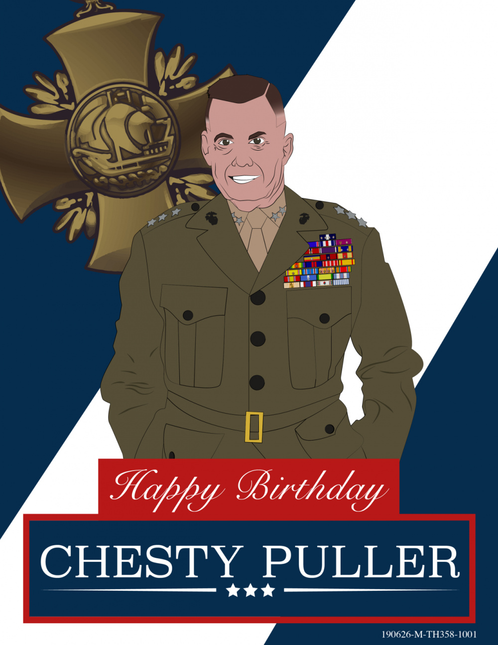 Chesty Puller's 121st Birthday Graphic