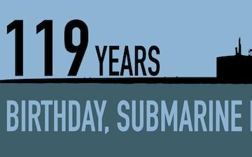 U.S. Submarine Force Celebrates 119th Birthday