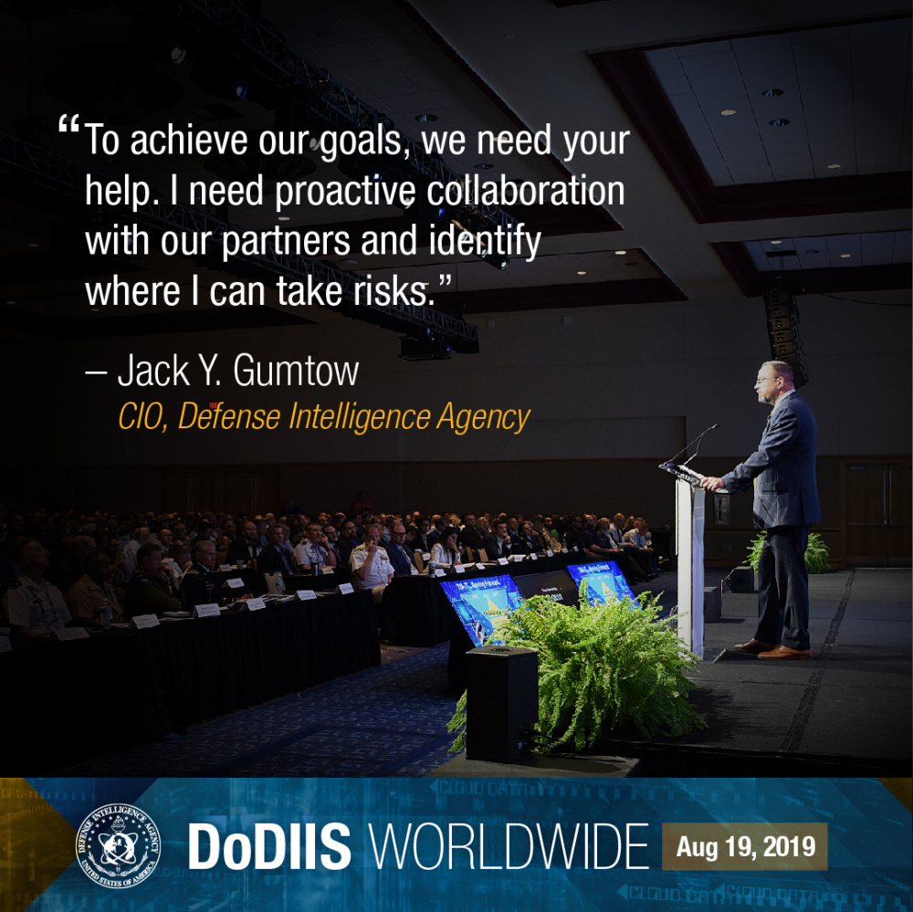 To Achieve Our Goals, We Need Your Help - Jack Y. Gumtow #DoDIIS19 (Instagram)