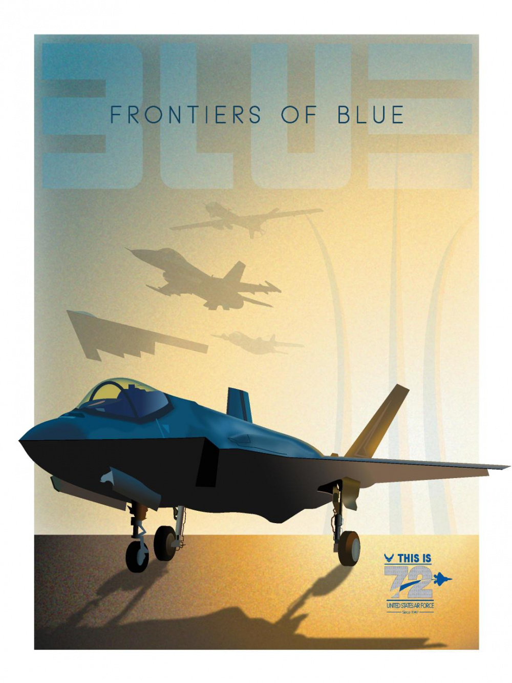 72nd Air Force Birthday Poster